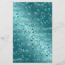 Shiny Paisley Turquoise