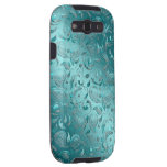 Shiny Paisley Turquoise Samsung Galaxy S3 Case