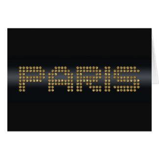 shiny Paris paper products Card