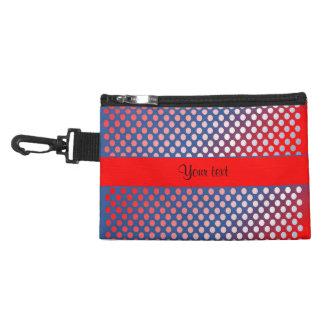 Shiny Patriotic Dots Accessory Bag