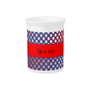 Shiny Patriotic Dots Drink Pitcher