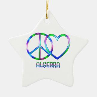Shiny Peace Love Algebra Ceramic Ornament