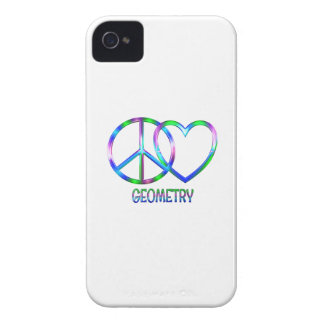 Shiny Peace Love Geometry iPhone 4 Case