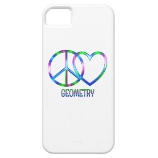 Shiny Peace Love Geometry iPhone SE/5/5s Case