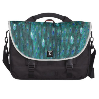 Shiny Peacock Feathers Computer Bag