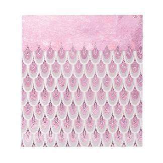Shiny Pink Glitter Mermaid Fish Scales Notepad