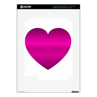 Shiny Pink Heart iPad 3 Decals