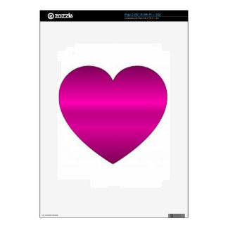 Shiny Pink Heart Decal For The iPad 2