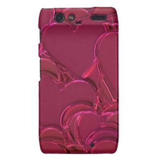 Shiny pink hearts Case-Mate Case Droid RAZR Cover
