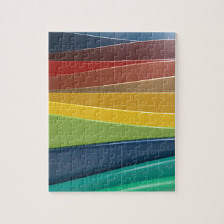 Shiny plastic layers jigsaw puzzle