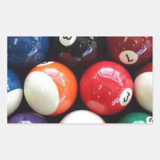 Shiny Pool balls close up Rectangular Sticker