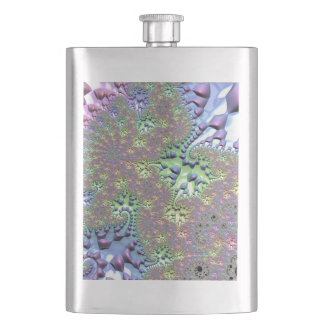 Shiny Rainbow Fractal Flask
