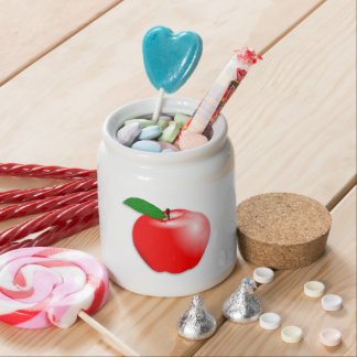 Shiny Realistic Red Apple Fruit Candy Dish