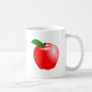 Shiny Realistic Red Apple Fruit Coffee Mug