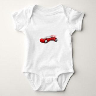 Shiny Red Aerodynamic Futuristic Car with Spoiler Baby Bodysuit