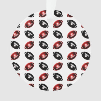 Shiny Red and Black Football Pattern