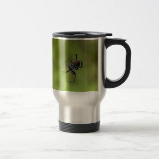 Shiny Red and Black Widow Spider Latrodectus macta Travel Mug