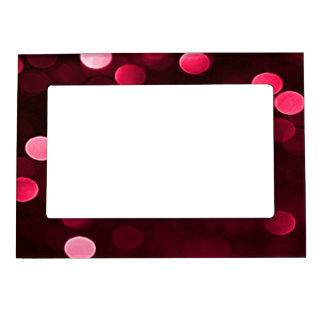 Shiny Red Christmas Lights Bokeh Magnetic Frame