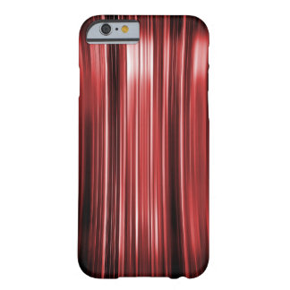 Shiny red curved lines pattern barely there iPhone 6 case