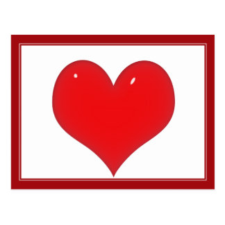 Shiny Red Heart (Add Your Text) Postcard