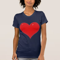 Shiny Red Heart (Add Your Text) Tee Shirt