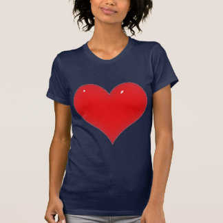 Shiny Red Heart (Add Your Text) T Shirt