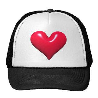 Shiny Red Heart Trucker Hat