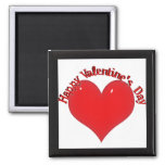 Shiny Red Heart Valentine Magnets