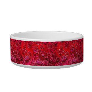 Shiny Red Hearts Bowl