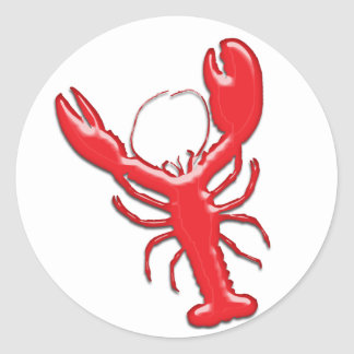 Shiny Red Lobster Classic Round Sticker