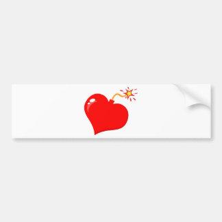 SHINY RED LOVE HEART BOMB GRAPHICS VECTORS FLIRT C BUMPER STICKER