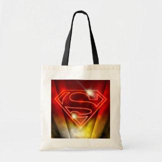 Shiny Red Outline Superman Logo Tote Bag