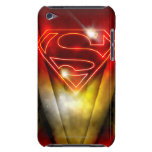 Shiny Red Outline Superman Logo iPod Touch Case-Mate Case