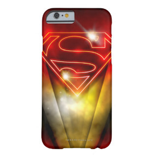 Shiny Red Outline Superman Logo Barely There iPhone 6 Case