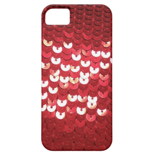 Shiny Red Sequins iPhone SE/5/5s Case