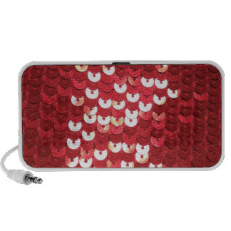 Shiny Red Sequins Travel Speaker