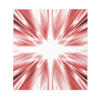 Shiny red silk star note pad