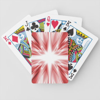 Shiny red silk star bicycle playing cards