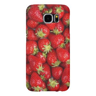 Shiny Red Strawberries Samsung Galaxy S6 Case