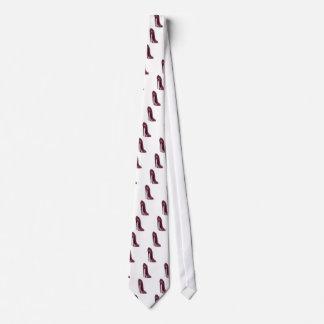 Shiny Ruby Red Stiletto Shoe Neck Tie