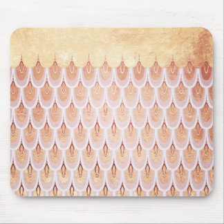 Shiny Salmon Pink Glitter Mermaid Fish Scales Mouse Pad