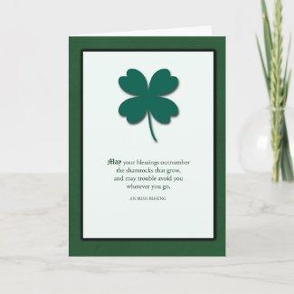 Shiny Shamrocks St. Patrick's Day Card