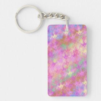 Shiny Shimmery Abstract Digital Art Keychain