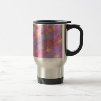 Shiny Shimmery Abstract Digital Art Travel Mug