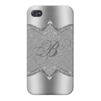 Shiny Silve Metallic Look Case For iPhone 4