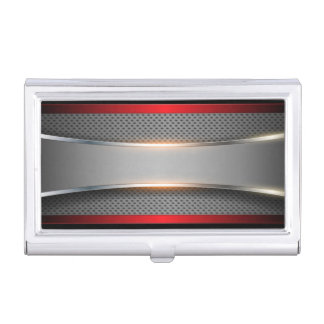 Shiny Silver, Chrome Look Business Card Case