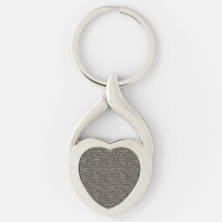 Shiny Silver Connected Ovals Celtic Pattern Keychain