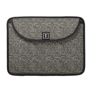 Shiny Silver Connected Ovals Celtic Pattern MacBook Pro Sleeves