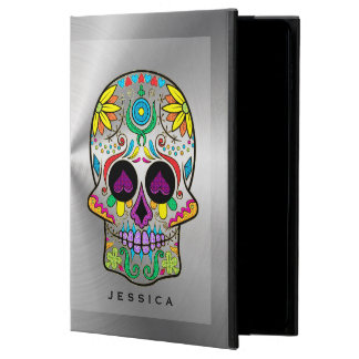 Shiny Silver Look With Colorful Sugar Skull Powis iPad Air 2 Case
