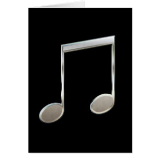 Shiny Silver Music Notation Beamed Whole Notes